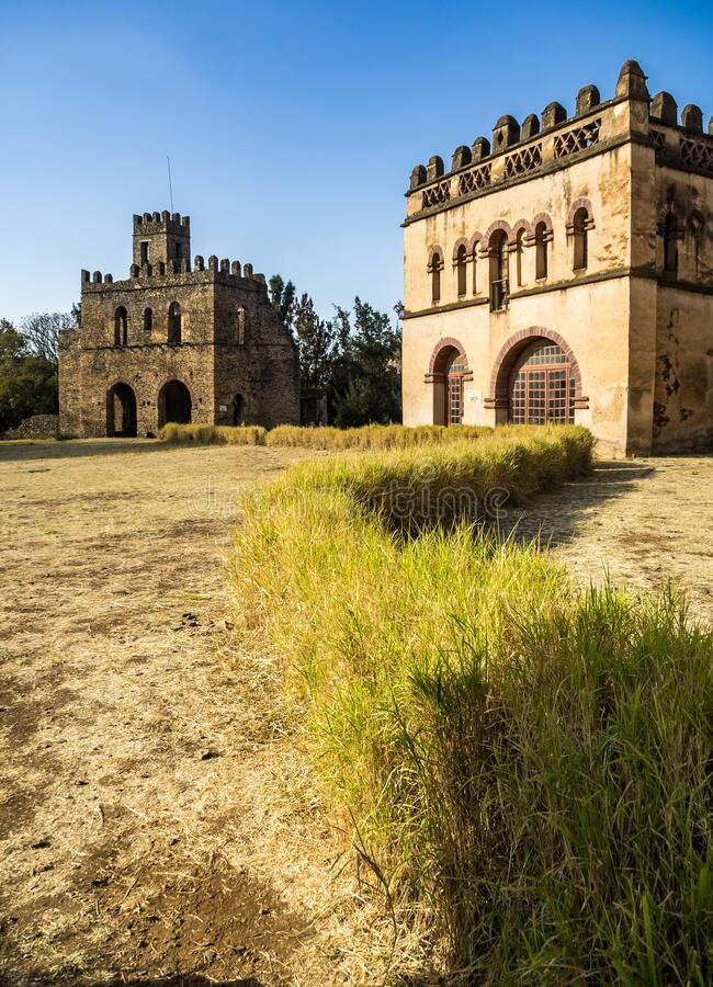 Fasil Ghebbi is the remains of a fortress-city within Gondar, Ethiopia. Fasil Ghebbi Royal Enclosure is the remains of a fortress-city within Gondar, Ethiopia royalty free stock image
