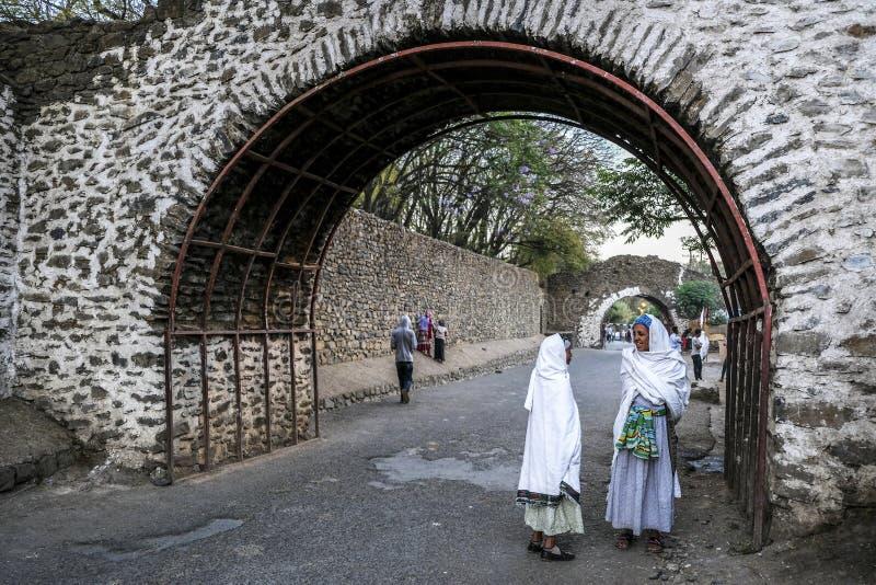 Fasilideskasteel in Gondar, Ethiopië royalty-vrije stock foto's
