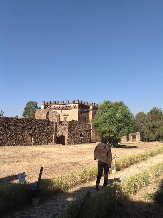 Fasilkasteel Gondar Ethiopië royalty-vrije stock afbeelding