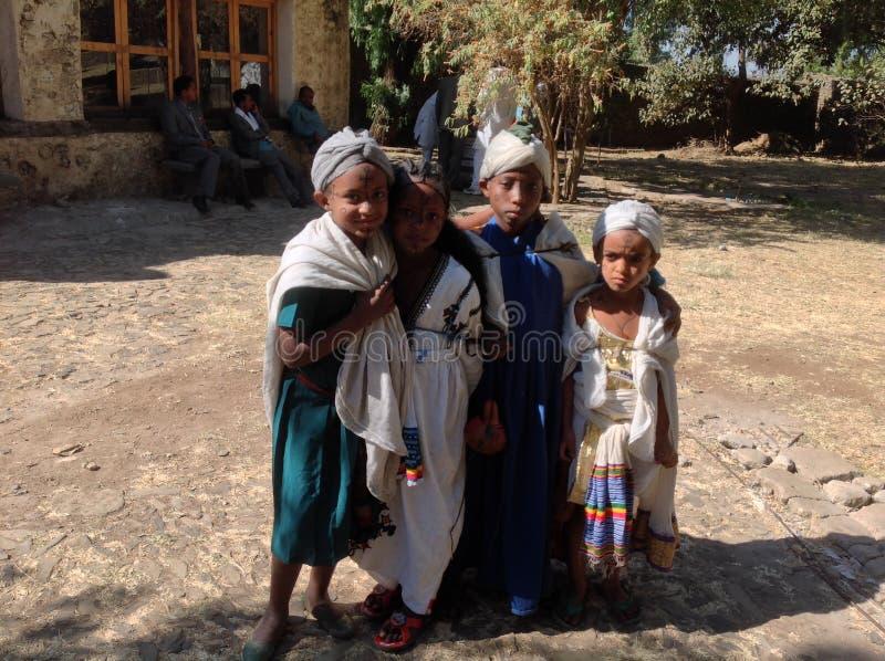 Fasilkasteel Gondar Ethiopië stock foto