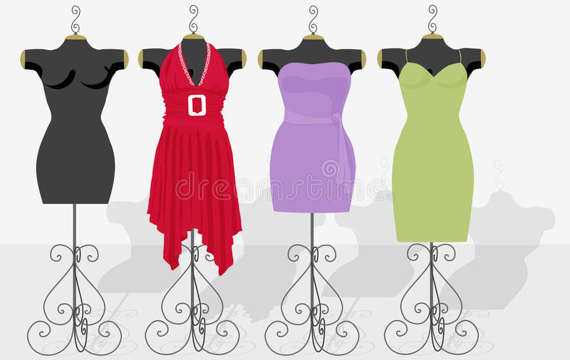 Fasion Mannequins vector illustration