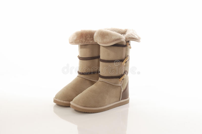 Fasion Sheepskin Boots Stock Photo