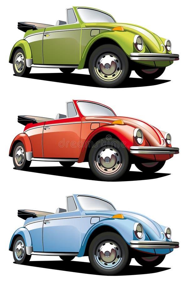 fasioned gammal roadster vektor illustrationer