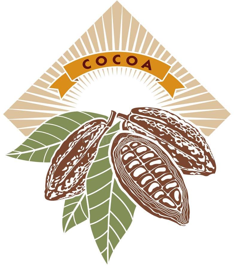 fasola kakaowe ilustracji
