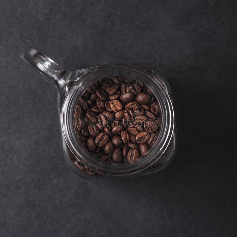 fasola słój kawowy szklany obrazy royalty free