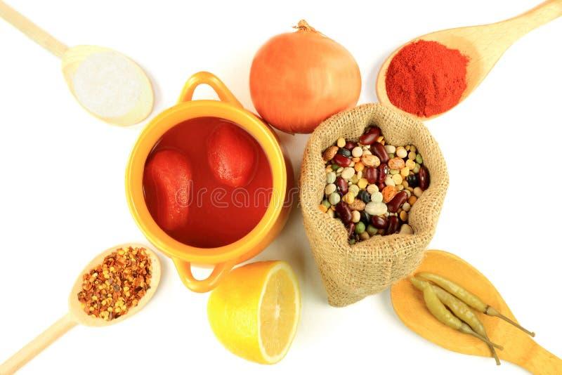 fasole gotują zupnych mieszanek czternaście produktów obrazy stock