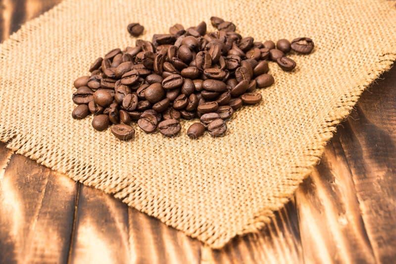 fasole graniczą burlap kawę fotografia royalty free