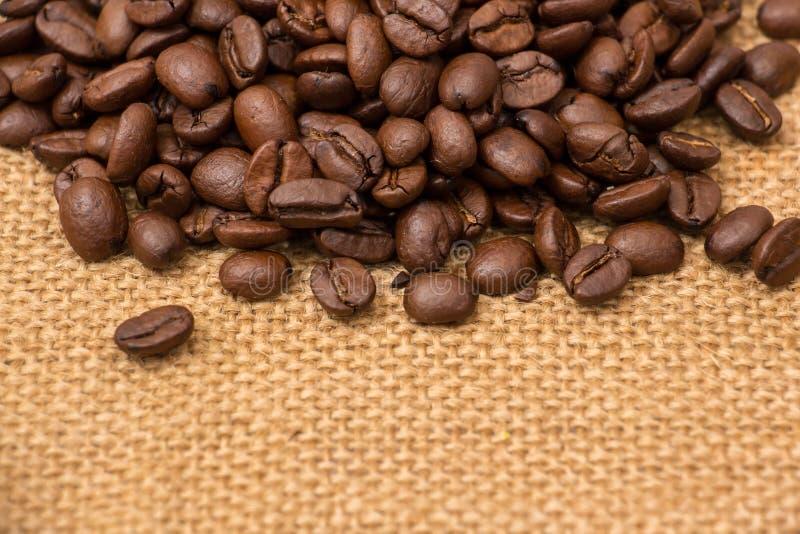 fasole graniczą burlap kawę zdjęcie royalty free
