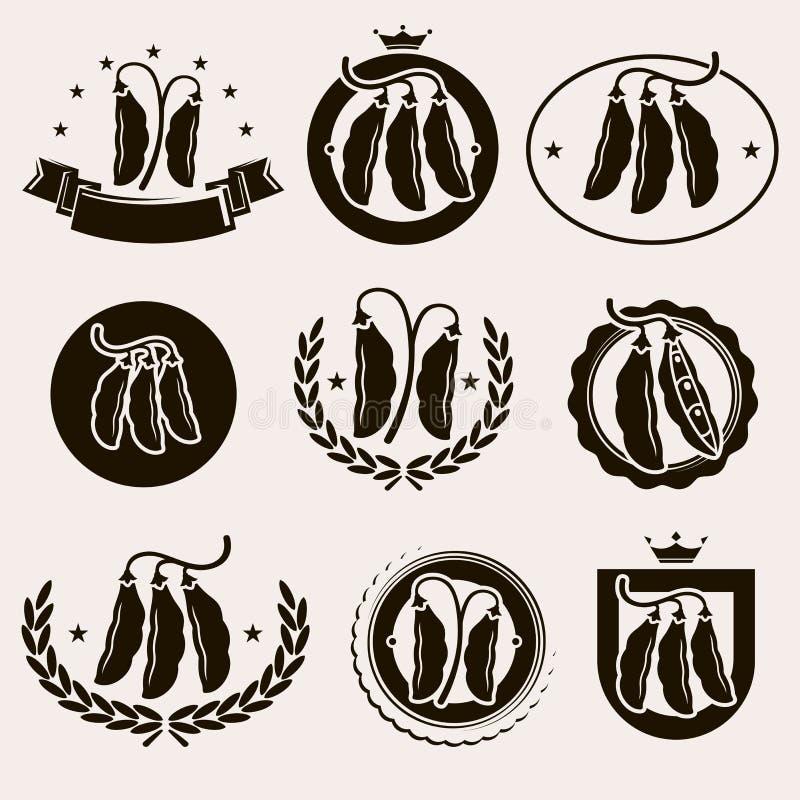 Fasole ustawiać wektor royalty ilustracja