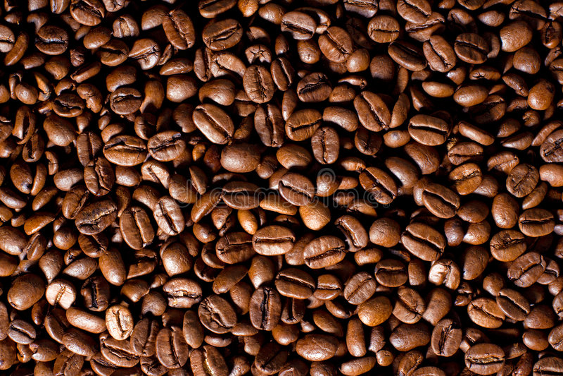fasoli kawę fotografia stock