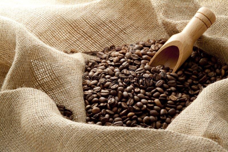 fasoli kawowy konopie worek obrazy stock