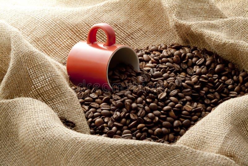 fasoli kawowy konopie worek zdjęcie royalty free