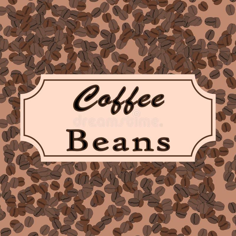 8 fasoli kawy eps wektor Kawowy projekt dla sklepu lub kawiarni royalty ilustracja