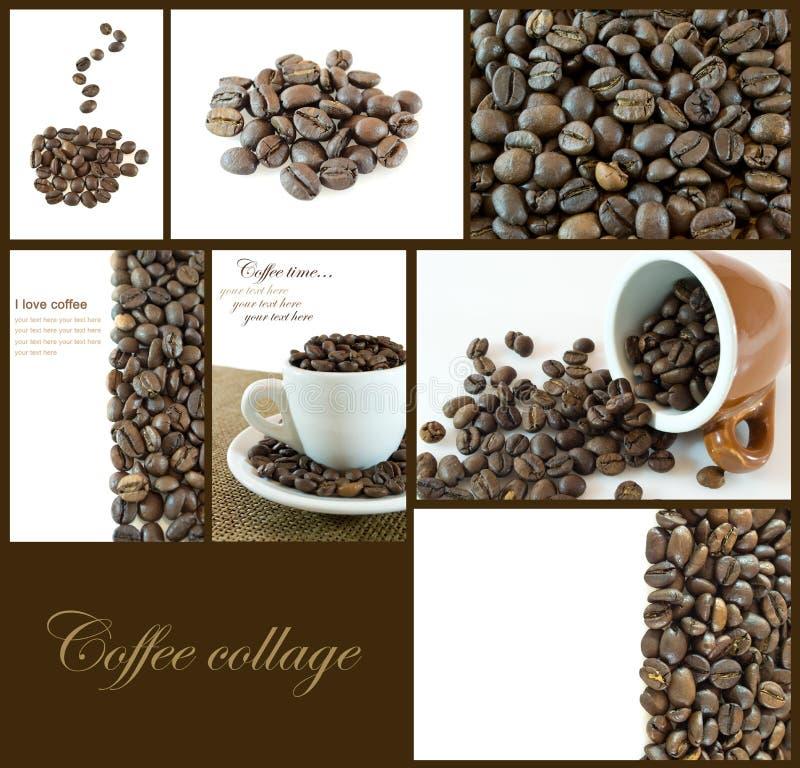 fasoli kawy kolaż zdjęcia royalty free