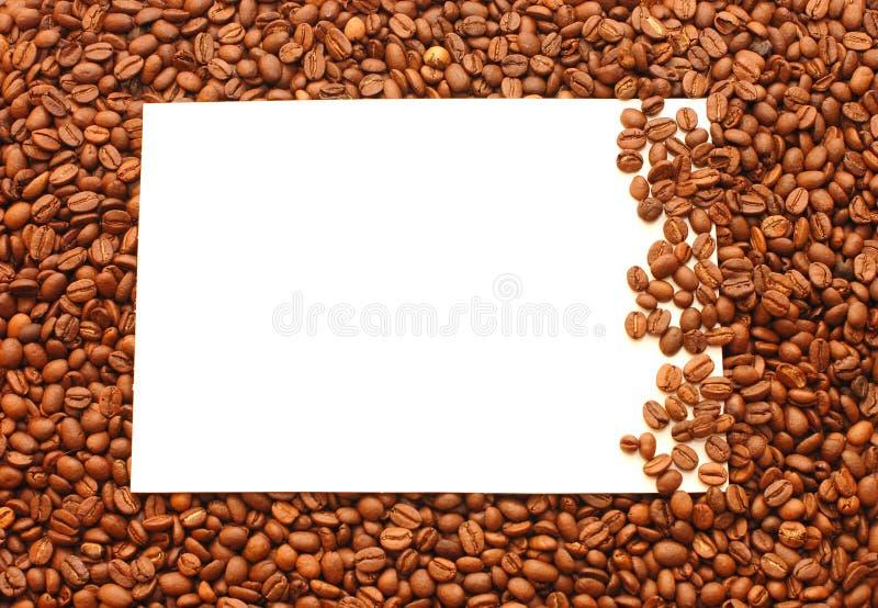 fasoli kawy rama obraz stock