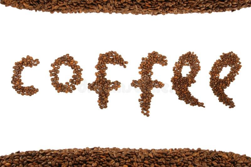 fasoli kawy tekst zdjęcie royalty free