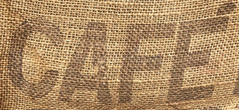 fasoli kawy worka rocznik fotografia stock