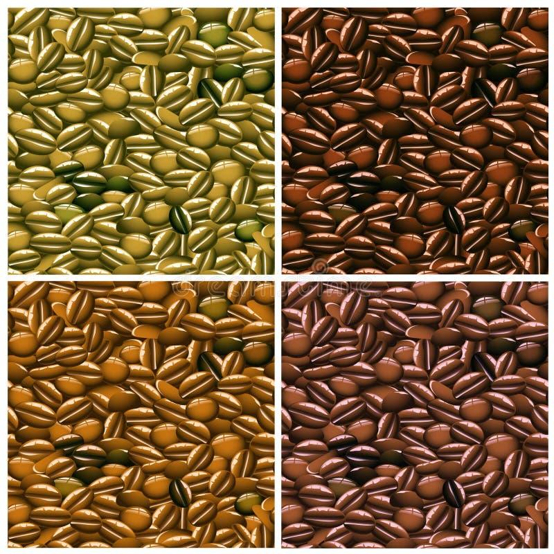 fasoli kawy wzór bezszwowy ilustracja wektor