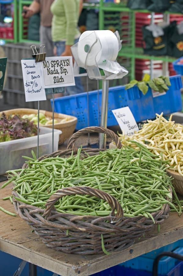 fasoli rolników zieleni rynku wosku kolor żółty zdjęcie royalty free