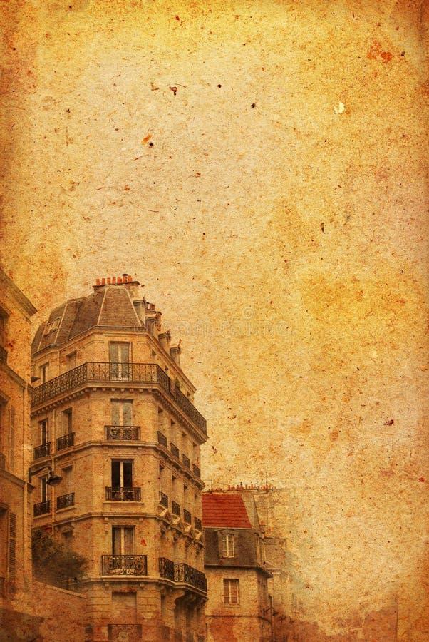 fasonujący France stary Paris royalty ilustracja
