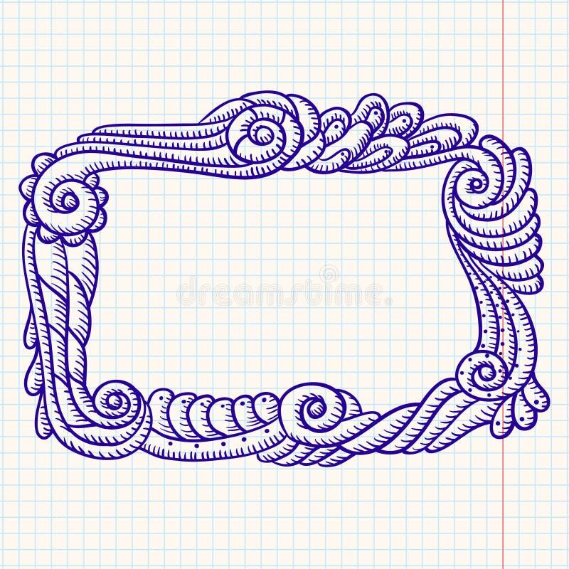 fasonujący ramowy stary ilustracja wektor