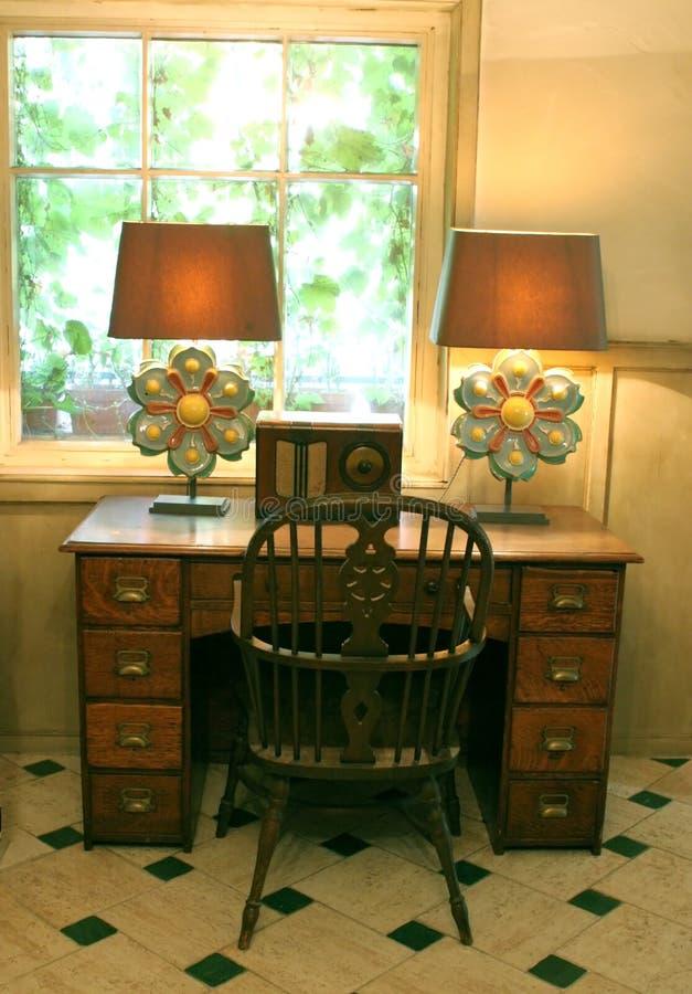 fasonujący stare biurko zdjęcia stock