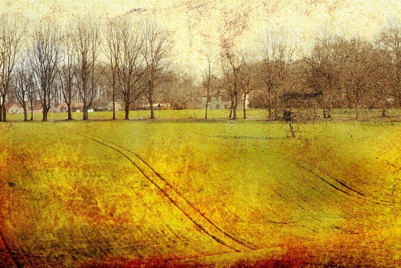 fasonujący stary krajobrazu obraz stock