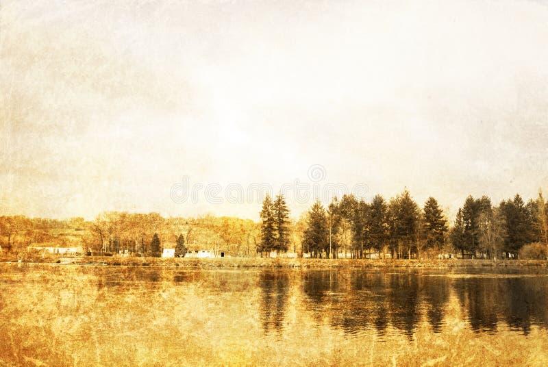 fasonujący stary krajobrazu fotografia stock