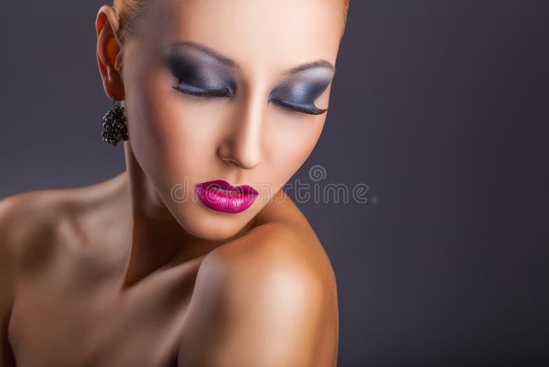 fasonuje makeup obrazy stock