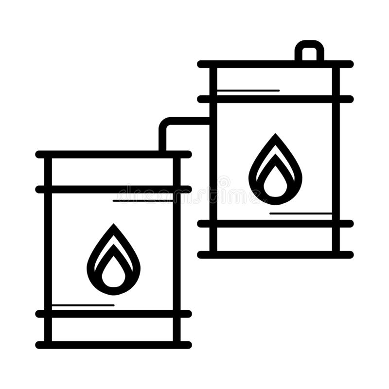 Fassöl-Ikonenvektor lizenzfreie abbildung