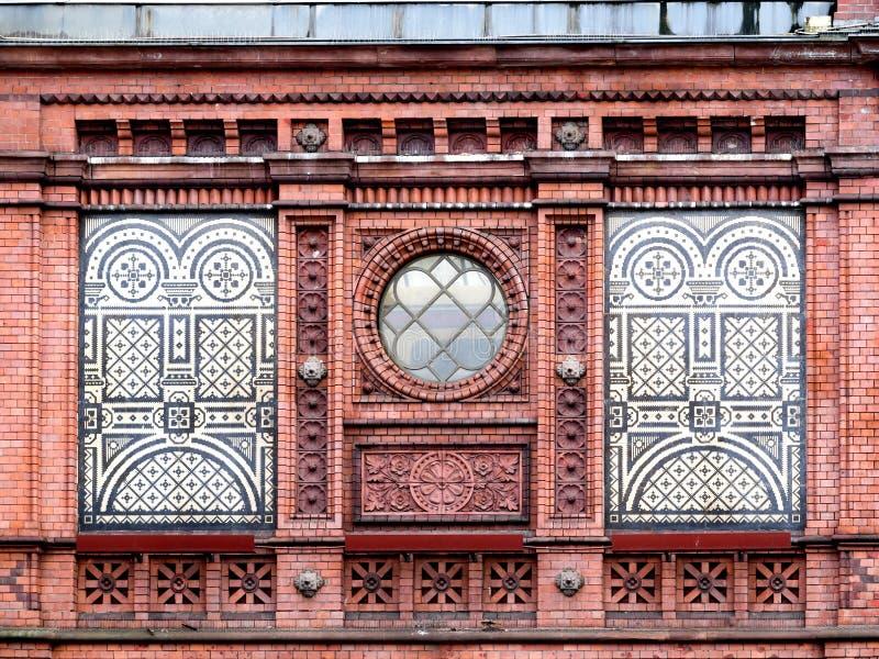Fassade Bahnhofs Hackescher Markt, Berlin, Deutschland lizenzfreies stockbild