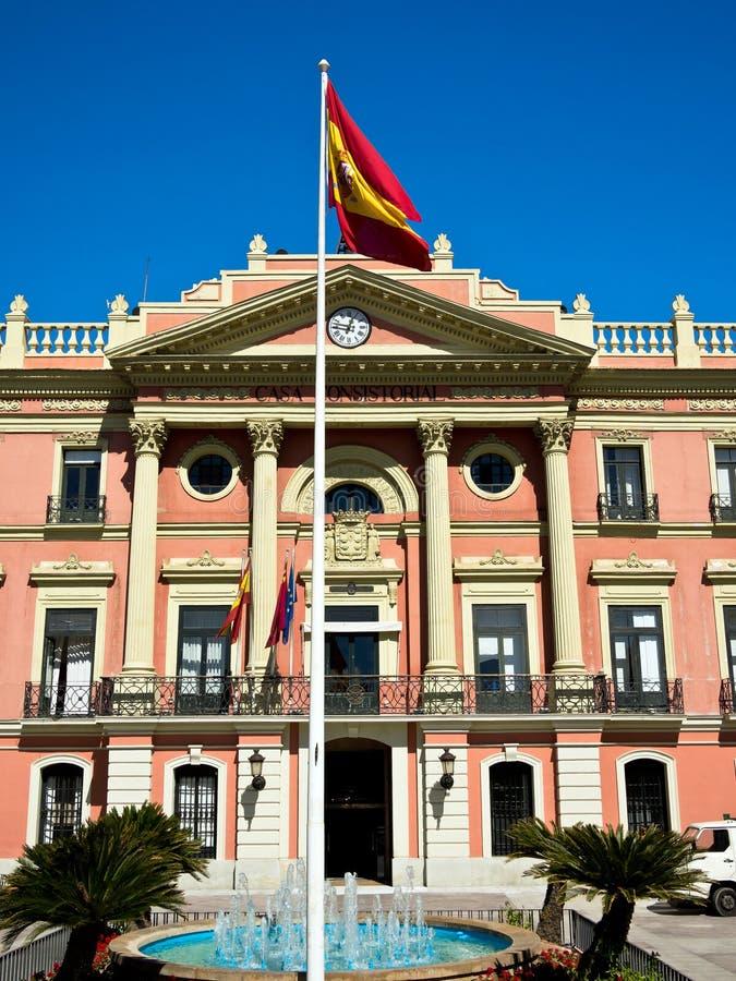 Rathaus in Murcia, Spanien lizenzfreie stockfotos