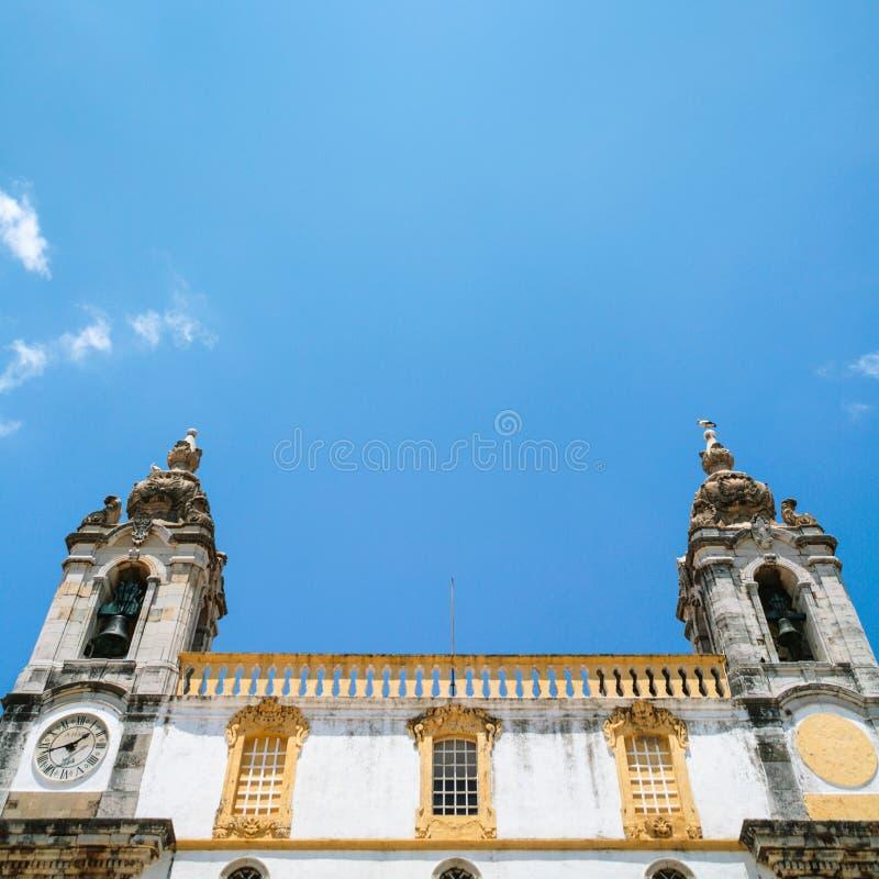 Fassade der Kirche Igreja tun Carmo in Faro lizenzfreie stockfotos