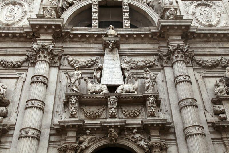 Fassade der Kirche San Moise in Venedig, Italien lizenzfreie stockfotos