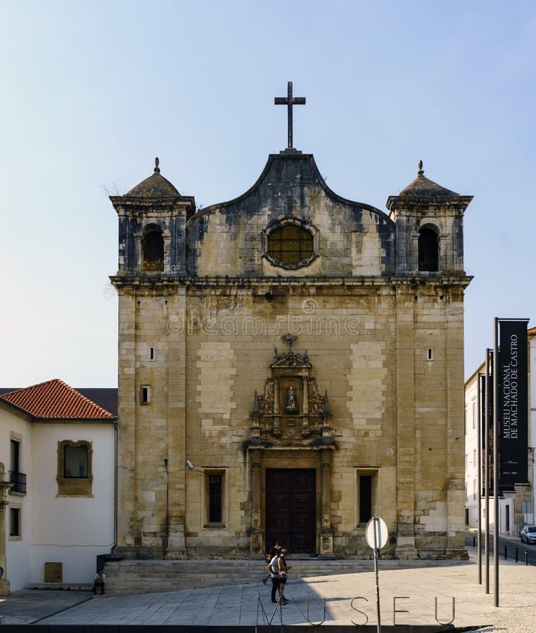 Fassade der Kirche von San Juan de Almedina, auf San- Juanstraße und nahe bei dem Nationalmuseum stockfotografie