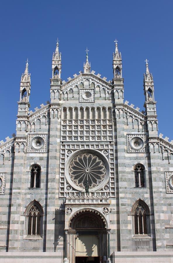 Fassade der Monza-Kathedrale, Italien lizenzfreies stockbild
