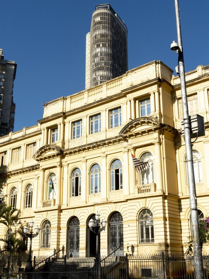 Fassade der normalen Schule von Caetano de Campos lizenzfreies stockfoto