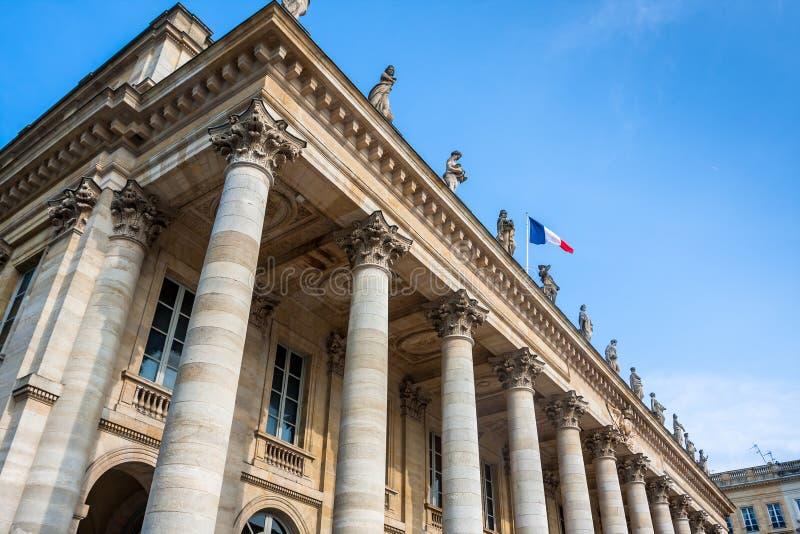 Fassade der Oper von Bordeaux stockfotografie