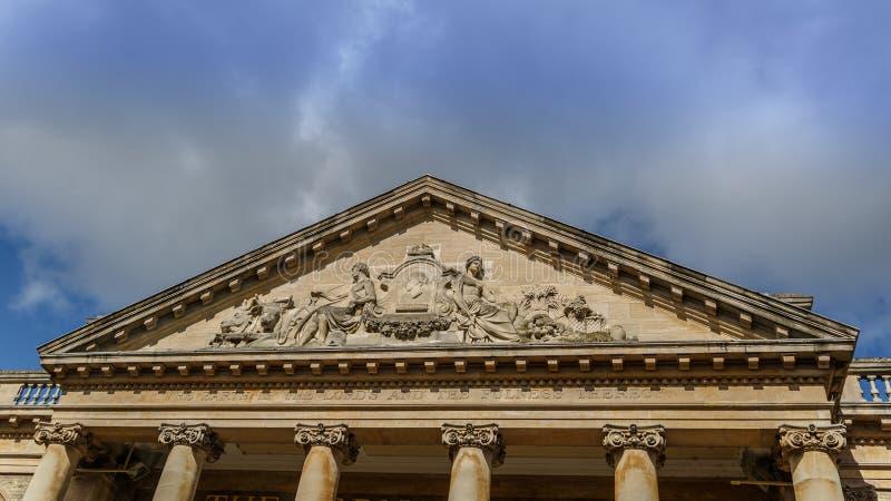 Fassade des Getreidebörsegebäudes in Bedecken-St. Edmunds lizenzfreies stockbild