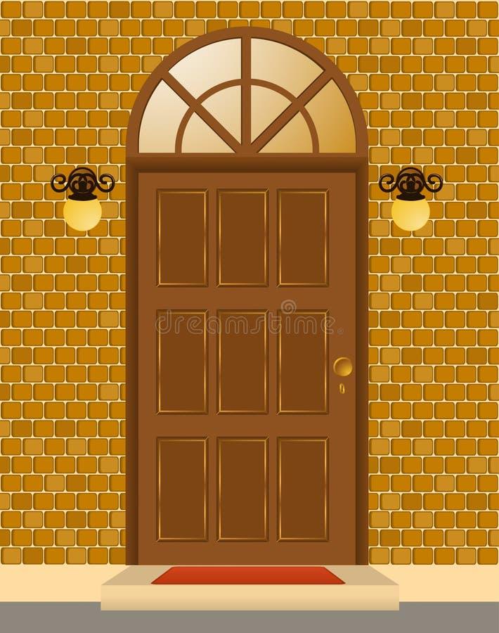 Fassade des Hauses mit Tür vektor abbildung