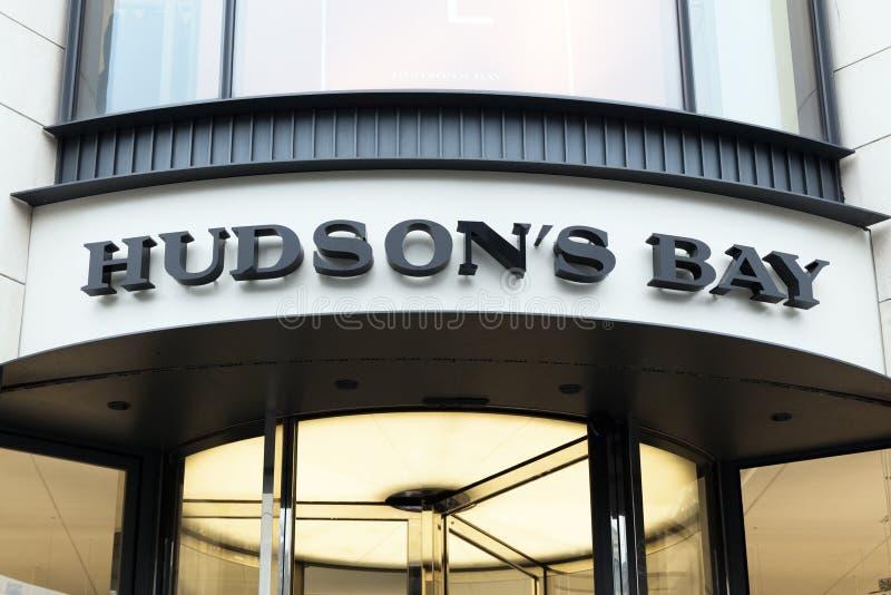 Fassade des Hudson- Bayspeichers in Amsterdam stockfoto