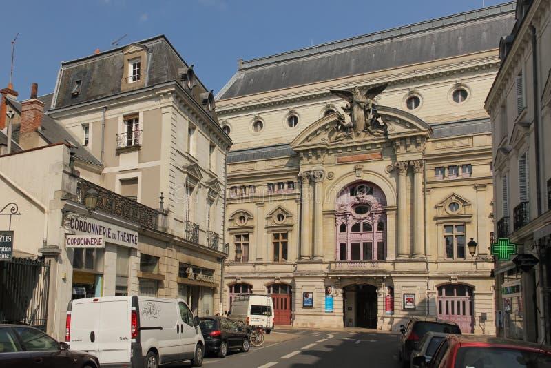 Fassade des städtischen Theaters touren frankreich stockfotos