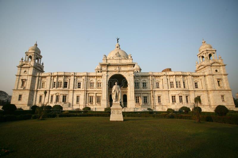 Fassade des Victorias ErinnerungsKolkata Indien lizenzfreie stockbilder