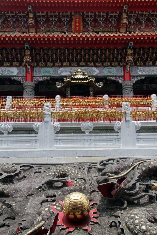 Fassade des Wenwu Tempels lizenzfreie stockfotografie
