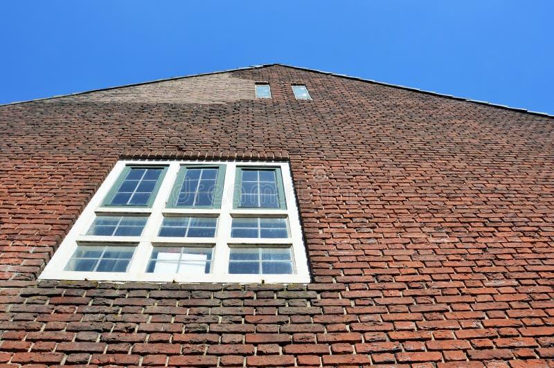 Fassade eines Altbaus in Willemstad die Niederlande stockbild