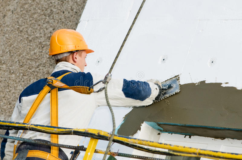 Fassade End- und Surfacerarbeiten lizenzfreies stockfoto