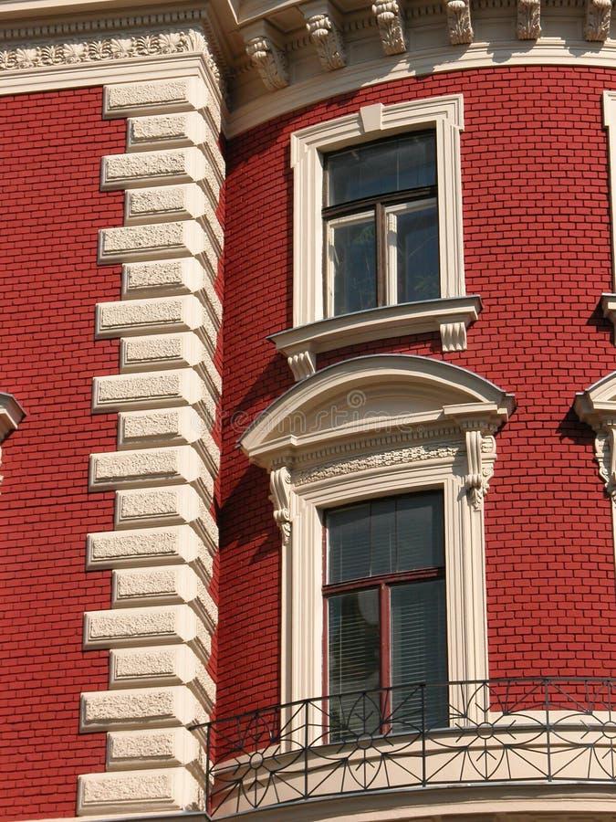 Fassade im Rot stockbilder
