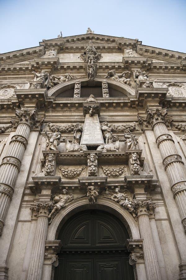 Fassade Kirche der San-Moise in Venedig. lizenzfreie stockbilder