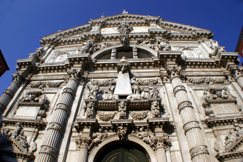 Fassade Kirche der San-Moise in Venedig lizenzfreie stockfotografie