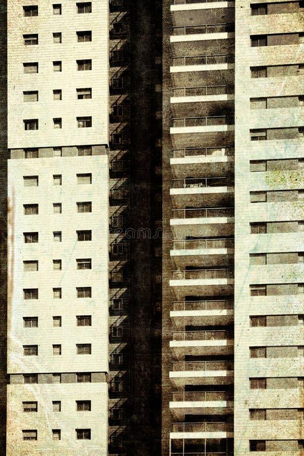 Fassade mit Windows in Folge lizenzfreies stockbild